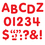 Trend Enterprises T-1780 Stick-Eze 1 Letters Numbers Red 126 Punctuation Marks