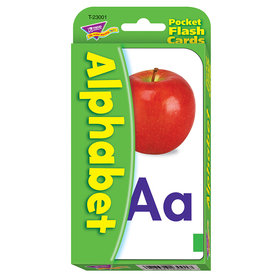 Trend Enterprises T-23001 Pocket Flash Cards Alphabet 56-Pk 3 X 5 Two-Sided Cards, Price/EA