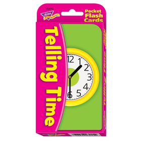 Trend Enterprises T-23015 Pocket Flash Cards Telling Time 56/Pk 3 X 5 Two-Sided Cards, Price/EA