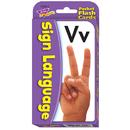Trend Enterprises T-23016 Pocket Flash Cards Sign Language 56-Pk 3X5 Two-Sided Cards