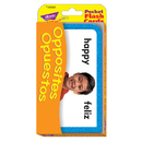 Trend Enterprises T-23038 Pocket Flash Cards Opposites Opuestos