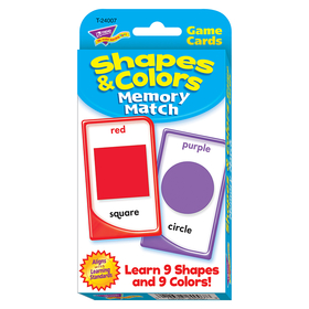Trend Enterprises T-24007 Challenge Cards Colors And Shape, Price/EA