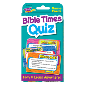 Trend Enterprises T-24703 Challenge Cardsbible Times Quiz, Price/EA