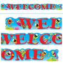 Trend Enterprises T-25049 Welcome Frogs 10Ft Horizontal Banner