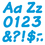 Trend Enterprises T-2702 Ready Letters 4 Inch Italic Blue