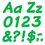 Trend Enterprises T-2705 Ready Letters 4 Inch Italic Green