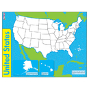Trend Enterprises T-27301 The United States Wipe Off Map 17X22