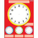 Trend Enterprises T-27312 Clocks Wipe Off Chart 17X22