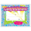 Trend Enterprises T-2954 Certificate Congratulations 30/Pk Spirals 8-1/2 X 11