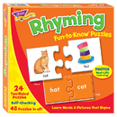 Trend Enterprises T-36009 Fun To Know Puzzles Rhyming