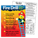 Trend Enterprises T-38007 Chart Fire Drill Safety Rules
