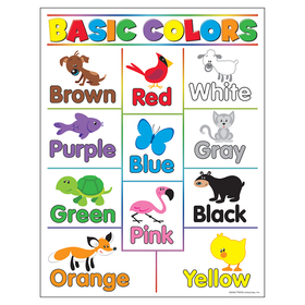 Trend Enterprises T-38208 Learning Charts Basic Colors, Price/EA