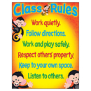 Trend Enterprises T-38440 Class Rules Monkey Mischief Learning Chart