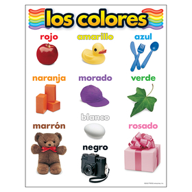 Trend Enterprises T-38507 Chart Los Colores, Price/EA
