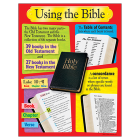Trend Enterprises T-38701 Using The Bible Learning Chart, Price/EA