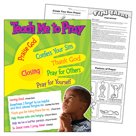 Trend Enterprises T-38704 Teach Me To Pray Learning Chart, Price/EA