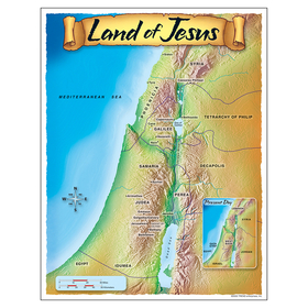 Trend Enterprises T-38710 Learning Chart Land Of Jesus, Price/EA