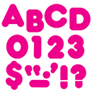 Trend Enterprises T-438 Ready Letters 2In Casual Deep Pink