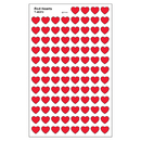 Trend Enterprises T-46072 Supershapes Stickers Red Hearts