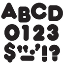 Trend Enterprises T-465 Ready Letters 4 Inch Casual Black