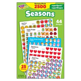 Trend Enterprises T-46914 Stickers Seasons Colossal Variety Pk, Price/EA