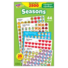 Trend Enterprises T-46914 Stickers Seasons Colossal Variety Pk, Price/EA