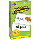 Trend Enterprises T-53006 Flash Cards Palabras E 96/Box Imagenes