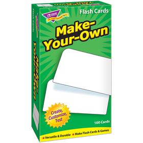 Trend Enterprises T-53010 Flash Cards Make Your Own 100/Box, Price/EA