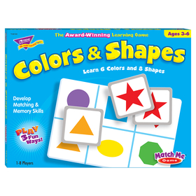 Trend Enterprises T-58103 Match Me Game Colors & Shapes Ages 3 & Up 1-8 Players, Price/EA