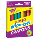 Trend Enterprises T-591 Wipe-Off Crayons Jumbo 8/Pk