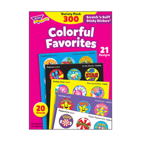 Trend Enterprises T-6481 Stinky Stickers Colorful Favorites Acid-Free Variety 300/Pk, Price/EA