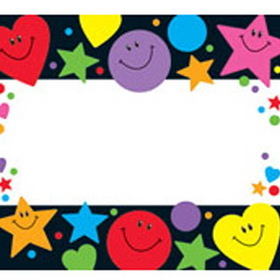 Trend Enterprises T-68027 Stars Hearts And Smiles Name Tags, Price/EA