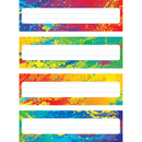 Trend Enterprises T-69906 Splashy Colors Name Plates Variety Pack Of 4 Designs 32 Plates