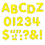Trend Enterprises T-78001 Stick-Eze 1 Letters Numbers Yellow