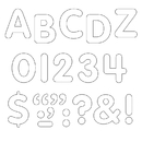Trend Enterprises T-78002 Stick-Eze 1 Letters Numbers White 184 Uppercase 50 Numerals 90 Marks