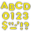 Trend Enterprises T-79052 Yellow 4In Colorful Chrome Ready Letters