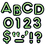 Trend Enterprises T-79514 Bright Green Ready Letters 4In Uppercase Neon Font