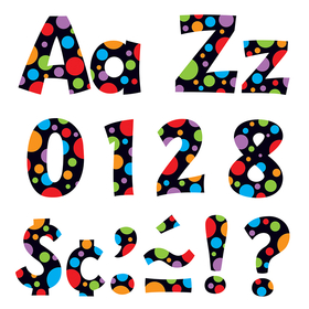 Trend Enterprises T-79754 Neon Dots Ready Letters 4In Upper Lowercase Combo, Price/EA