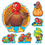 Trend Enterprises T-8124 Bb Set Turkey Time