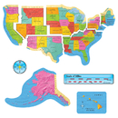 Trend Enterprises T-8160 Us Map Bb Set 46In Wide Gr 1-8