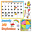Trend Enterprises T-8302 Bb Set Monthly Calendar Cling Pcs