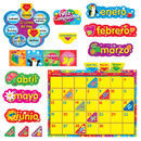 Trend Enterprises T-8321 Wipe Off Stars N Swirls Calendar Cling Spanish Bb Set