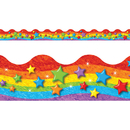 Trend Enterprises T-92332 Rainbow & Stars Trimmers Scalloped Edge 12/Pk 2.25 X 39 Total