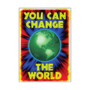 Trend Enterprises T-A67140 Poster You Can Change The World