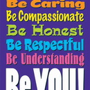 Trend Enterprises T-A67242 Be Accepting Be Caring Large Poster