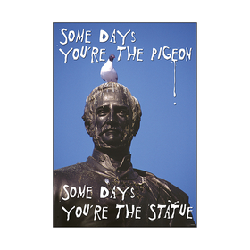 Trend Enterprises T-A67278 Poster Some Days Youre The Pigeon Some Days Youre The Statue Argus, Price/EA