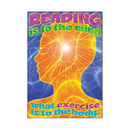 Trend Enterprises T-A67366 Reading Is To The Mind What Exercise Is To The Body Lrg Poster