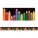 Teacher Created Resources TCR4060 Sw Colorful Pencils Straight Border Trim