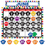 Teacher Created Resources TCR4328 Colorful Paw Prints Calendar Bb Set