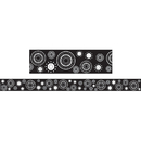 Teacher Created Resources TCR4529 Black/White Crazy Circles Straight Border Trim